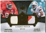 2007 Upper Deck Exquisite Collection Patch Combos #BG Dwayne Bowe Ted Ginn Jr /25