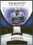 2007 Upper Deck Exquisite Collection Patch Gold #AD Joseph Addai /50