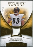 2007 Upper Deck Exquisite Collection Patch Gold #HM Heath Miller 24/50