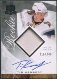 2008/09 Upper Deck The Cup #84 Tim Kennedy Rookie Patch Auto /249
