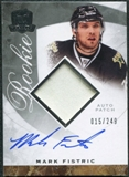 2008/09 Upper Deck The Cup #95 Mark Fistric Rookie Patch Auto /249