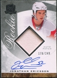 2008/09 Upper Deck The Cup #99 Jonathan Ericsson Rookie Patch Auto /249