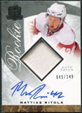 2008/09 Upper Deck The Cup #100 Mattias Ritola Rookie Patch Auto /249