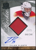 2008/09 Upper Deck The Cup #104 Tyler Plante Rookie Patch Auto /249