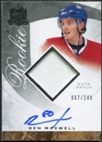 2008/09 Upper Deck The Cup #114 Ben Maxwell Rookie Patch Auto /249