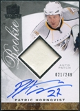 2008/09 Upper Deck The Cup #115 Patric Hornqvist Rookie Patch Auto 211/249
