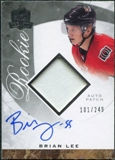 2008/09 Upper Deck The Cup #123 Brian Lee Rookie Patch Auto /249