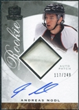2008/09 Upper Deck The Cup #127 Andreas Nodl Rookie Patch Auto /249