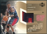 2002/03 Upper Deck UD Game Jerseys Patch Names 1 #SFPN Steve Francis