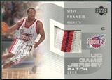 2002/03 Upper Deck UD Game Jerseys Patch Logos 1 #SFPL Steve Francis