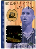 2001/02 Upper Deck Hardcourt UD Game Film/Floor #RMF Reggie Miller
