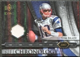 2008 Upper Deck Icons NFL Chronology Jersey Silver #CHR39 Tom Brady /150