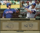 2005 Upper Deck UD Portraits Signature Auto Dual 8 x 10 #BT Hank Blalock Mark Teixeira 69/99
