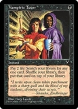 Magic the Gathering Visions Single Vampiric Tutor MODERATE PLAY (VG/EX)