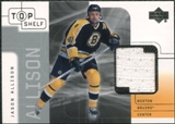 2001/02 Upper Deck UD Top Shelf Jerseys #JA Jason Allison