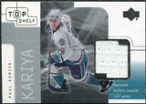 2001/02 Upper Deck UD Top Shelf Jerseys #PK Paul Kariya