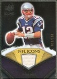 2008 Upper Deck Icons NFL Icons Jersey Silver #NFL44 Tom Brady /150