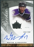 2008/09 Upper Deck The Cup #65 Wayne Simmonds RC Autograph /199