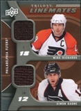 2009/10 Upper Deck Trilogy Line Mates #LMRG Mike Richards Simon Gagne