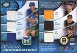 2009/10 UD Trilogy Confrontations Cam Neely Adam Oates Ray Bourque Bobby Holik Chris Pronger Brendan Shanahan