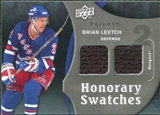 2009/10 Upper Deck Trilogy Honorary Swatches #HSBL Brian Leetch
