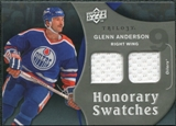 2009/10 Upper Deck Trilogy Honorary Swatches #HSGA Glenn Anderson