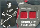 2009/10 Upper Deck Trilogy Honorary Swatches #HSGH Gordie Howe