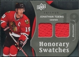 2009/10 Upper Deck Trilogy Honorary Swatches #HSJT Jonathan Toews