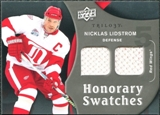 2009/10 Upper Deck Trilogy Honorary Swatches #HSNL Nicklas Lidstrom