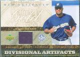 2007 Upper Deck Artifacts Divisional Artifacts Gold #CL Carlos Lee