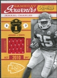 2011 Timeless Treasures Game Day Souvenirs 1st Quarter #21 Jamaal Charles /164