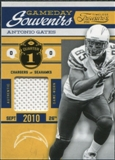 2011 Panini Timeless Treasures Game Day Souvenirs 1st Quarter #24 Antonio Gates /170