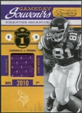 2011 Panini Timeless Treasures Game Day Souvenirs 1st Quarter #32 Visanthe Shiancoe /99