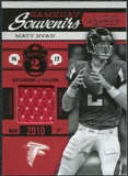 2011 Panini Timeless Treasures Game Day Souvenirs 2nd Quarter #7 Matt Ryan /190