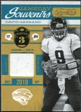 2011 Panini Timeless Treasures Game Day Souvenirs 3rd Quarter #17 David Garrard /185