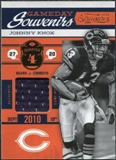 2011 Panini Timeless Treasures Game Day Souvenirs 4th Quarter #26 Johnny Knox /50