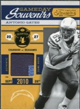 2011 Timeless Treasures Game Day Souvenirs 4th Quarter Prime Patch Jersey #24 Antonio Gates 7/25