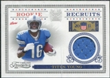 2011 Panini Timeless Treasures Rookie Recruits Materials #12 Titus Young /250