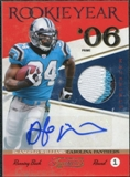 2011 Panini Timeless Treasures Rookie Year Materials Autograph Prime #4 DeAngelo Williams 2/2