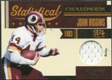 2011 Timeless Treasures Statistical Champions Materials #3 John Riggins /100