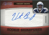 2011 Panini Timeless Treasures Silver #221 Vincent Brown Autograph /25