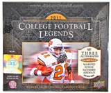 2011 Upper Deck College Football Legends Hobby Box