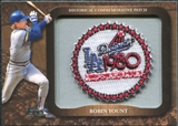 2009 Topps Legends Commemorative Patch #LPR142 Robin Yount