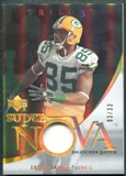 2007 Upper Deck Trilogy Supernova Swatches Patch Hologold #GJ Greg Jennings 3/33