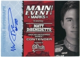 2010 Press Pass Wheels Main Event Marks Autographs Blue #14 Matt DiBenedetto 18/35
