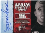 2010 Press Pass Wheels Main Event Marks Autographs Blue #26 Brian Ickler 26/35