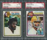 1979 Topps Football Partial Set (NM-MT) With 4 PSA Graded Cards