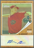 2011 Topps Heritage Minors #BP Blake Perry Real One Auto Green Tint #02/10