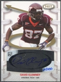 2007 Sage Hit Playmakers #PA13 David Clowney Gold Rookie Auto #021/100