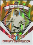 2009 Topps Legends Chrome Target Cereal Gold Refractors #GR11 Christy Mathewson